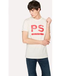 Paul Smith - Slim-Fit Off-White 'PS ' Print T-Shirt - Lyst