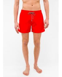 Paul Smith - Short De Bain Homme Rouge - Lyst