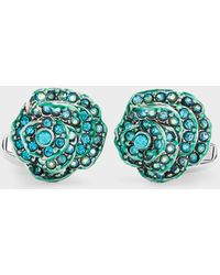 Paul Smith - Turquoise Rose Cufflinks - Lyst