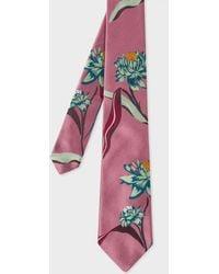 Paul Smith   Men's Mauve Floral Jacquard Silk Tie   Lyst