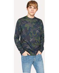 Paul Smith | Men's Dark Navy Camouflage Print Cotton Long-sleeve T-shirt | Lyst