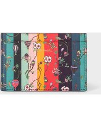 Paul Smith - Leather 'Balloon Floral' Print Credit Card Holder - Lyst