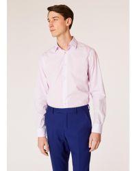 Paul Smith - Chemise Rose Pâle 'Pin Stripe' En Coton Coupe Ajustée - Lyst