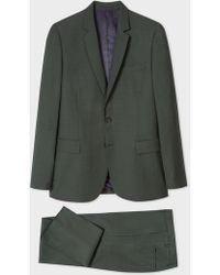 Paul Smith - Mid-Fit Dark Green Wool-Mohair Suit - Lyst