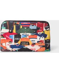 Paul Smith  cycle Gloves  Print Canvas Wash Bag for Men - Lyst c3ebb1a5a