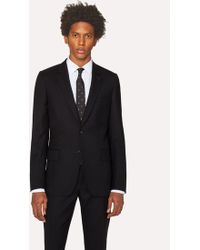 Paul Smith - A Suit To Travel In - Men's Tailored-fit Black Wool Blazer - Lyst