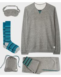 Paul Smith - Grey Marl Cotton Loungewear Set - Lyst