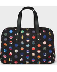 Paul Smith - 'Cycle Dot' Print Canvas Holdall - Lyst