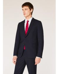 Paul Smith - Tailored-fit Navy Wool 'a Suit To Travel In' Blazer - Lyst