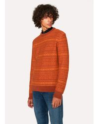 Paul Smith - Orange Fair Isle Wool-Blend Jumper - Lyst