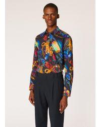 Paul Smith - Slim-fit 'explorer' Print Cotton Shirt - Lyst