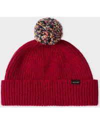 95e556f3e1fb0 Lyst - Paul Smith Multistripe Knitted Beanie for Men