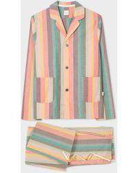 Paul Smith - Artist Stripe Cotton Pyjama Set - Lyst