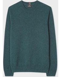 Paul Smith - Petrol Marl Lambswool Jumper - Lyst