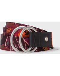 Paul Smith - Black 'Ocean' Print Double Buckle Belt - Lyst