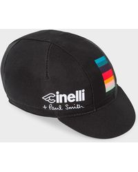 030ffbda4c3 Paul Smith - + Cinelli Black  artist Stripe  Detail Cycling Cap - Lyst