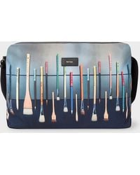 Paul Smith - 'Paint Brushes' Print Canvas Messenger Bag - Lyst