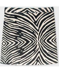 Paul Smith - Zebra Faux Pony Hair Skirt - Lyst