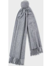 Paul Smith - Grey Large Cashmere Scarf - Lyst