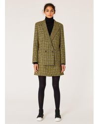 Paul Smith - Black And Yellow Dogtooth Pattern Double-Breasted Wool-Blend Suit - Lyst