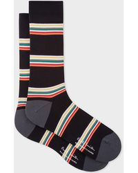 Paul Smith - Black Block-Stripe Cycling Socks - Lyst