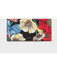 Paul Smith - Women's 'wild Garden' Print Leather Tri-fold Purse - Lyst