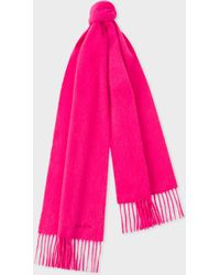 Paul Smith - Men's Bright Pink Cashmere Scarf - Lyst
