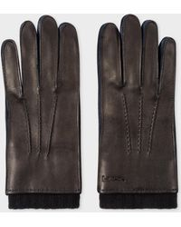 Paul Smith - Black Deerskin Silk-Cashmere Lined Gloves - Lyst