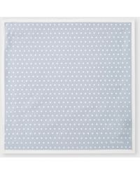 Paul Smith - Light Steel-Blue Polka Dot Silk Pocket Square - Lyst