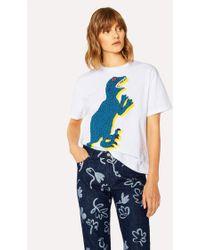 Paul Smith - Large 'Dino' Print Cotton T-Shirt - Lyst