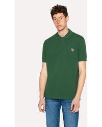 Paul Smith - Men's Dark Green Organic Cotton-piqué Zebra Logo Polo Shirt - Lyst