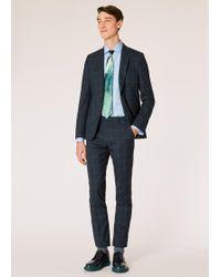 Paul Smith - Slim-fit Dark Navy Check Wool Suit - Lyst