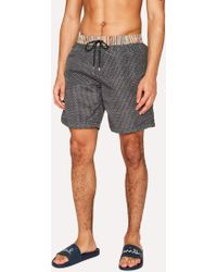Paul Smith - Black Geometric Print Swim Shorts - Lyst