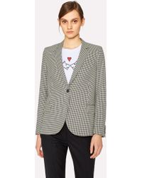 Paul Smith - Black And White Dogtooth Cotton Blazer - Lyst