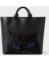 Paul Smith - Black Leather 'Cat' Tote Bag - Lyst