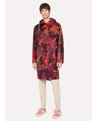 Paul Smith | Men's 'Ocean' Print Micro-Ripstop Oversized Parka | Lyst