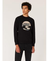 Paul Smith - Black 'surf' Circle Print Organic-cotton Sweatshirt - Lyst