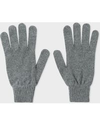 Paul Smith - Grey Cashmere And Merino Wool Gloves - Lyst