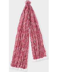 Paul Smith - Red 'geometric Triangle' Print Cotton Scarf - Lyst