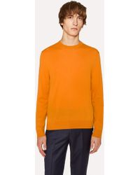 Paul Smith - Men's Burnt Orange Crew-neck Merino Wool Jumper - Lyst