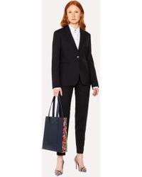 Paul Smith - A Suit To Travel In - Black One-Button Wool Suit - Lyst