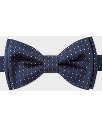 Paul Smith - Navy Pin-Dot Silk Bow Tie - Lyst
