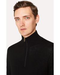 Paul Smith - Men's Black Merino Wool V-neck Jumper - Lyst