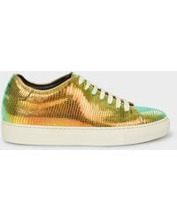 Paul Smith - Lizard-Effect Leather 'Basso' Trainers - Lyst