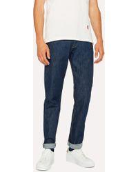 Paul Smith - Tapered-Fit Indigo Stretch-Denim Jeans - Lyst