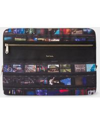 "Paul Smith - 'Mini Film' Print 13"" Laptop Sleeve - Lyst"