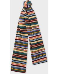 Paul Smith - Écharpe 'Signature Stripe' En Laine Mélangée - Lyst