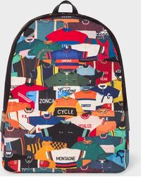 Paul Smith - 'Cycling Jersey' Print Canvas Backpack - Lyst