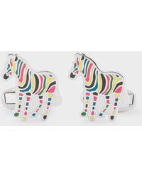 Paul Smith - Multi-coloured Stripe 'zebra' Cufflinks - Lyst