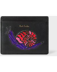 Paul Smith - 'Dreamer Snail' Print Leather Slip Card Holder - Lyst